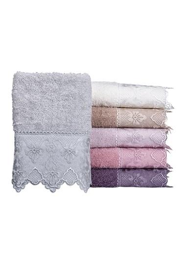 Minteks Cream-White Ahsen 50x90 6 lı 6 Renk Havlu Seti Renkli